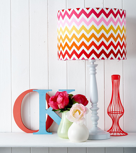 Easy lampshade make by Ella Johnston. Styling, Ella Johnston. Photography, Cliqq Photography.