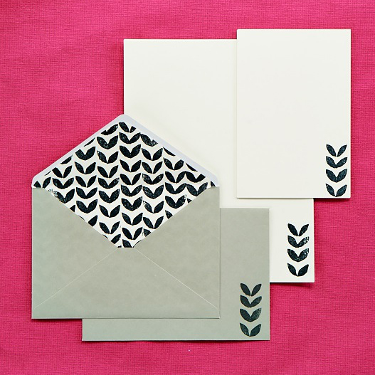 Block printed stationery by Ella Johnston for PaperCrafter. Styling, Ella Johnston. Photography, Cliqq Photography