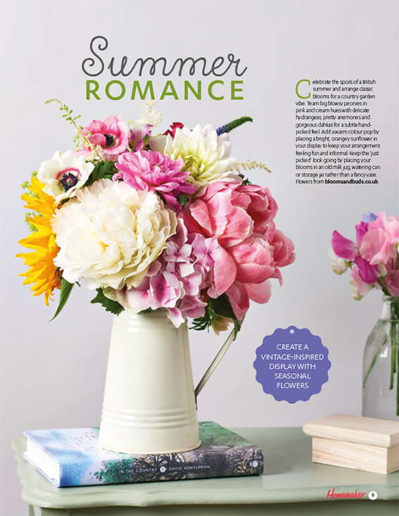How to display summer blooms. Text and styling, Ella Johnston. Photography Cliqq Photography