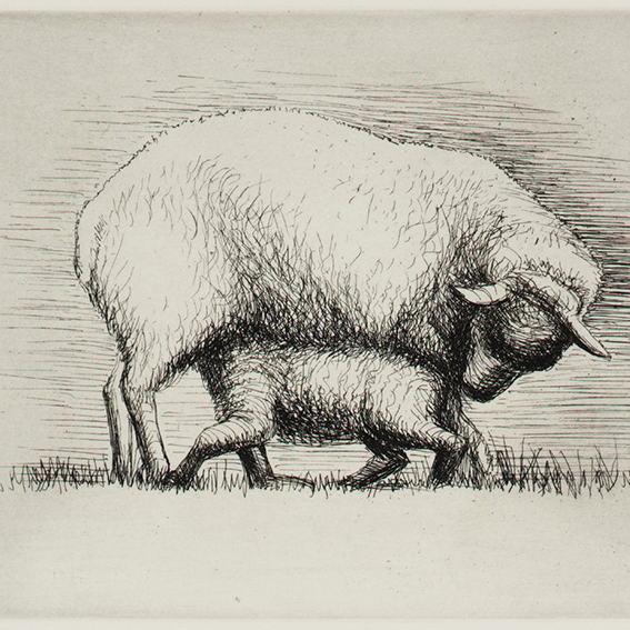 Sheep with Lamb IV 1972 Henry Moore OM, CH 1898-1986 Presented by the artist 1975