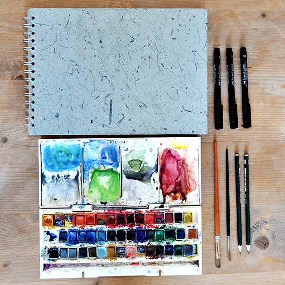 Ella Johnston's drawing kit