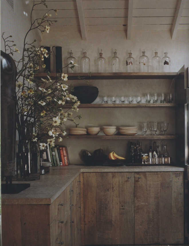 Reclaimed salvaged wood kitchen http://www.ellasplace.me