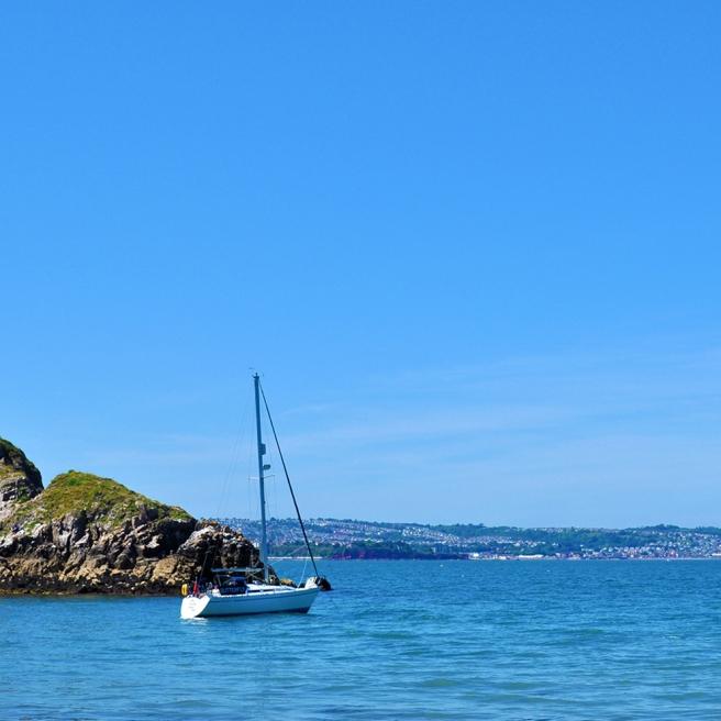 Fishcombe Cove boat BLUE LO RES