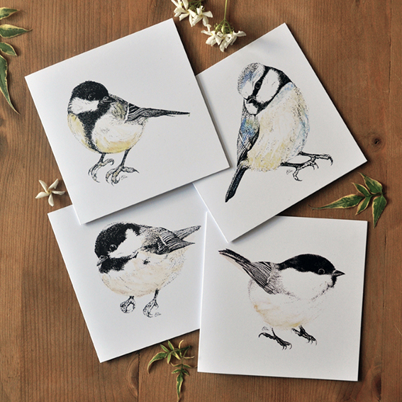 Garden Bird Cards (c) Ella Johnston