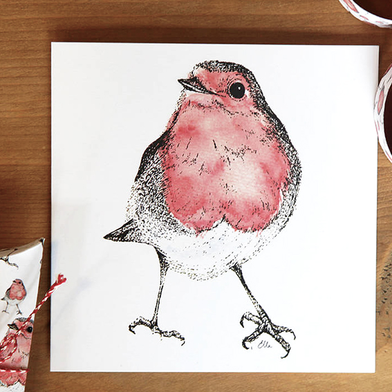 Robin Card by Ella Johnston